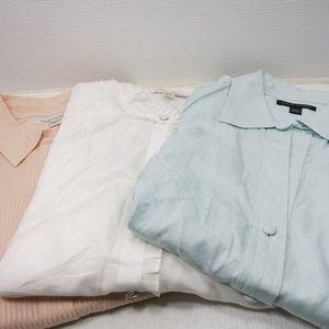 3 Blouse Shirt Lot Bundle Dress Shirts Women Tops